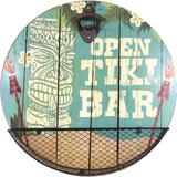 OPEN TIKI BAR Wood Sign