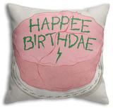Happee Birthdae Throw Pillow Throw Pillow