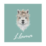 Llama Animal Portrait Prints by  ant_art