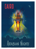 Cairo Egypt - The Arabian Nights - One Thousand and One Nights - Aladdin's Magic Lamp Posters by M. Azmy