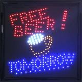 FREE BAR Light Up Sign