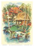 Samoa - S.S. Matsonia - Matson Line (Matson Navigation Company) Poster by Louis Macouillard