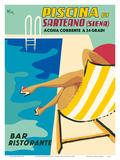 Sarteano Swimming Pool Resort - Siena, Italy - Bar Restaurant (Ristorante) Posters by  Athoy