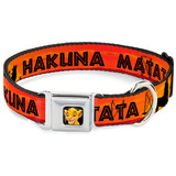 Lion King - Hakuna Matata Sunset Dog Collar Novelty