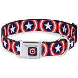 Captain America - Shield Dog Collar Novelty