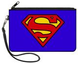 Superman - Blue Canvas Zipper Wallet Wallet