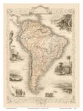 Map of South America Art by J. Rapkin