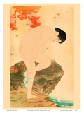The Fragrance of a Bath Art by Shinsui Ito