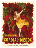 Liqueur Cordial-Médoc - French Wine - G. A. Jourde Winemakers Bordeaux France Prints by Leonetto Cappiello