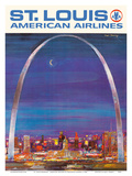 St. Louis Missouri - The Gateway Arch - American Airlines Posters by Frederick Conway