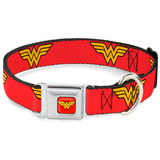 Wonder Woman - Logo Red Dog Collar Novelty