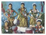 Hawaiian Hula Dancers Print by  Pacifica Island Art