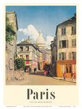 Paris, France - View of Montmartre - Basilica of the Sacred Heart (Sacre-Cœur) Prints by Rod Rieder