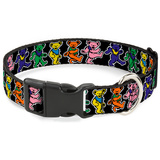 Grateful Dead - Dancing Bears Plastic Clip Collar Novelty