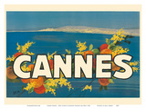 Cannes France - Côte d'Azur - French Riviera Posters by Georges Goursat aka SEM