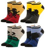 Harry Potter - Pacote com 4 pares de meias curtas de Hogwarts Meias