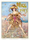 Nice Carnival 1915 Posters by Gustav-Adolf Mossa