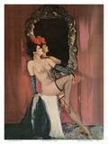 Belleza burlesque - Showgirl con medias Lámina por  Pacifica Island Art