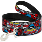 The Amazing Spiderman - Stacked Comic Books Dog Leash Novelty