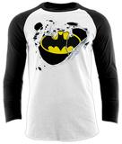 Maglietta con maniche lunghe a raglan: Batman - logo strappato Raglans