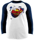 Raglan: Superman - Torn Logo Raglans