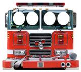 Fire Truck Stand-In Cardboard Cutouts