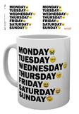 Emoji - Taza Días de la semana Taza