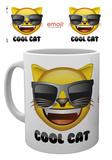 Emoji - Taza Gato con gafas de sol Taza