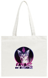 Savage Kitty Tote Bag Tote Bag
