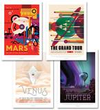 Space Travel Poster Set Value Set