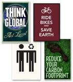 Think Global Poster Set Value Set