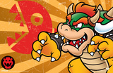 Super Mario - Bowser Stripes Posters