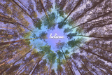 Tekst 'Believe'  Poster