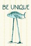 Tekst 'Be Unique'  Posters