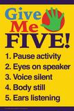 Give me five (gi' mig fem) Plakater af  Gerard Aflague Collection