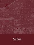 Mesa, United States of America Red Map Posters