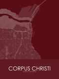 Corpus Christi, United States of America Red Map Plakater