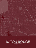 Baton Rouge, United States of America Red Map Photo