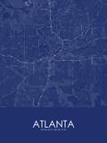 Atlanta, United States of America Blue Map Poster