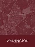 Washington, United Kingdom Red Map Photo