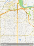 Fort Worth, United States of America Map Poster