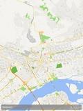 Bamako, Mali Map Plakater