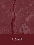 Mapa vermelho - Cairo, Egito Posters