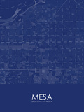 Mesa, United States of America Blue Map Posters