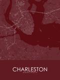 Charleston, United States of America Red Map Photo