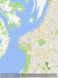 Porto Alegre, Brazil Map Prints
