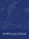 North Las Vegas, United States of America Blue Map Posters