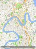 South Brisbane, Australia Map Prints