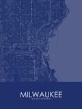 Milwaukee, United States of America Blue Map Prints