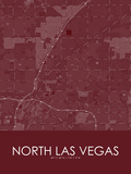 North Las Vegas, United States of America Red Map Poster